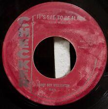 Sonny Boy Williamson / Blues / Rocker 45  /  The Goat / Its Sad to Be Alone