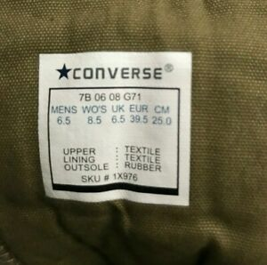 CONVERSE CHUCK TAYLOR ALL STAR w Pockets MB XHI Green Military Olive Camo BOOTS