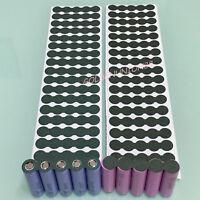50sets insulator adhesive cardboard gasket barley paper for 5X18650 battery DIY