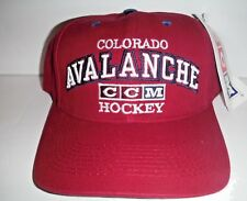 0d973d551ce Colorado Avalanche Authentic Vintage Adjustable Strap back Hat NHL NWT Cap  CCM