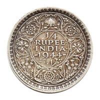 KM# 547 - 1/4 Rupee - Quarter - George VI - India 1944B (VF)