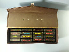 Atari 2600 Lot of 16 Games w/ Case Pac-Man Yars Revenge Asteroids Space Invaders