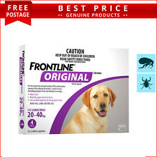 Frontline Original PURPLE For Dogs 20 to 40 Kg 4 Doses Flea and Tick Prevention