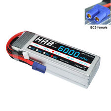 HRB 14.8V 4S 6000mAh RC Lipo Battery 50C 100C EC5 for Drone FPV UAV Helicopter