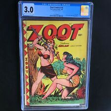 Zoot Comics #9 💥 CGC 3.0 💥 Rulah Classic Golden Age Cover! Fox Features 1948