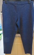 NEXT NAVY BLUE FLECK TAPERED TROUSERS - SIZE 14 - EXCELLENT CONDITION