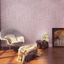 Embossed Love Letter Textured Wallpaper Roll For Living Room Non Woven Wallpaper