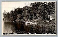Westfield Wisconsin WI Pleasant Lake Polacek Real Photo Postcard RPPC 1930-50