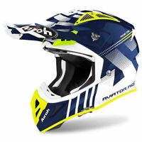 Airoh Off Road Aviator Ace Moto Motocross MX Dirt Bike Helmet Nemesi Gloss Blue