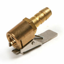 Great 6mm Clip On 1/4'' Car Tire Inflator Valve Connector Air Chuck Brass