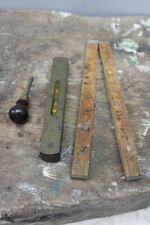 More details for boxwood measure & vintage spirit level