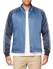 NEW Ben Sherman Snap Front Luxe Bomber Jacket Blue