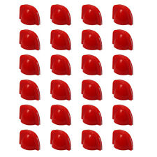 New 24pcs Guitar Amp Knobs Small Chicken Head Control Knobs Plastic Red Color