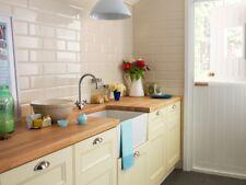 Tile Samples: London XL Ivory Cream Bevelled Gloss Metro Wall Tiles 10 X 30cm