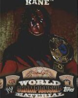 2010 Topps WWE World Championship Material #W11 Kane