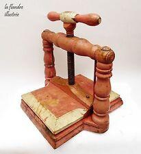 trés déco et rare presse à herbier 19ème tout en bois - art populaire