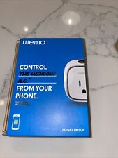 Wemo Insight Smart Plug Wi-Fi Enabled Control Your Lights Energy Monitoring