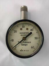 Vtg Guaranteed Accurate Psi Tire Pressure Gauge 0-60 Industrial Tools Workshop
