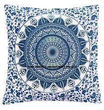 16'' Square Indian Mandala Pillows Cases Cushion Cover Floor Bohemian Home Decor
