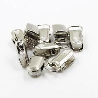 20Pc Metal Suspender Insert Paci Pacifier Holder Webbing Ribbon Mitten Clip Hook