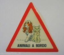 VECCHIO ADESIVO ORIGINALE / Old Original Sticker ANIMALI A BORDO (cm 13 x 12)