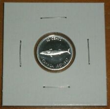Canada 1967 Ten Cents Silver Prooflike 10 Cent Mackerel Fish Dime