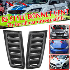 Carbon Fiber Look Bonnet Hood Vent Air Vents Scoop Duct Louver For Universal