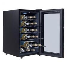 Freestanding 18 Bottle Thermoelectric Wine Cooler Fridge Modern Decor Black New