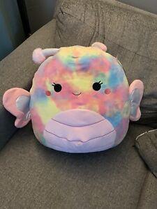"""Wren Squishmallow 16"""" Tie Dye Butterfly NWT"""