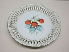 Hand Painted Floral Occupied Japan Open Lattice Edge 6� Plate