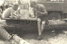 WWII German Large RP- Semi Nude Soldier- Gay Interest- Truck- Eating- Reading