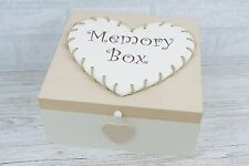 Memory Box Keepsakes Memories Heart Cream Sympathy Wedding Male Female  F1664