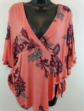 Free People Women Maui Wowie Printed Knit Top Size XS Passion Flower New New New