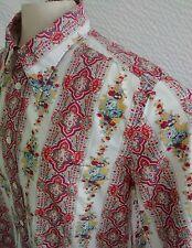 "Men's LUCKY BRAND Shirt ~ Vintage Paisley ~ XL 50"" ~ 30"" Length ~ Long Sleeve"