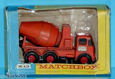 MATCHBOX king size READY-MIX CONCRETE TRUCK K-13 camion de chantier bétonnière