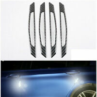 4x Anti-collision Trim Carbon Fiber Car Door Edge Guard Strip Protector Bumper