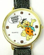 scarce studio employee 1990 FRED FLINTSTONE YABBA DABBA DOO large wristwatch