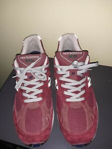 EUC RARE New Balance 991 M991CO Burgundy Wine Suede USA MADE 11.5D Running Shoes
