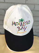 Montego Bay Jamaica Tourist Distressed Strapback Baseball Cap Hat Discolored