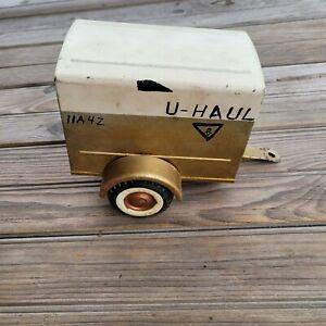 Vintage 1960s Nylint Pressed Steel U Haul Ford Econoline Trailer Painted Gold