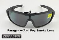 Bobster Paragon Sunglasses Anti-Fog Smoke Lens Matte Black Mens Womens Designer