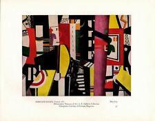 "Fernand Leger: ""The City""- Colorplate- Vtg Bookplate Art Print"