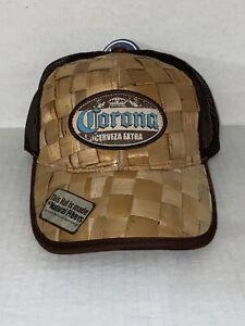Corona Beer Straw Mesh Trucker Hat Cap Adjustable SnapBack Bio Domes Headgear