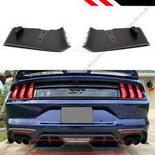 For 2018-2019 Ford Mustang GT R Style Rear Bumper Diffuser Valance Aero Foil Kit