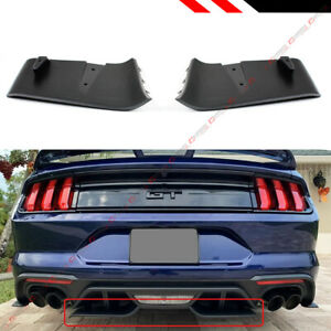 For 2018-2020 Ford Mustang GT R Style Rear Bumper Diffuser Valance Aero Foil Kit