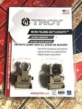 Troy Industries Micro HK Front and Rear Folding Battle Sight (FDE)