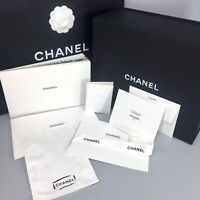 Chanel Magnetic Purse Box Empty Tissue Paper Card Ribbon Care Book ~ Choose Size