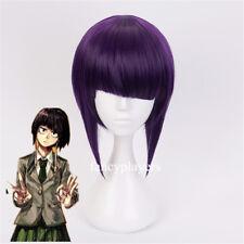 My Hero Academia Kyoka Jiro Short Unbalanced Hair Purple Cosplay Wig for Girl