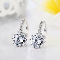 2.30 Ct Round Cut Diamond 14k White Gold Finish Drop Dangle Earrings For Women's