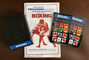 Boxing from Mattel Electronics for Intellivision no box
